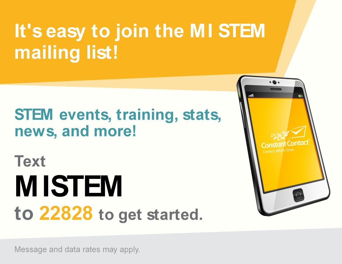 Promote STEM Information - Michigan STEM Partnership  - text2join-001
