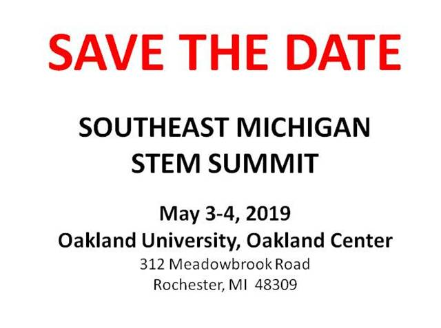 Michigan STEM Partnership - Promoting STEM Education in Michigan Schools - STEM_-_SAVE_THE_DATE